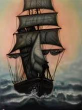 Airbrushed ship